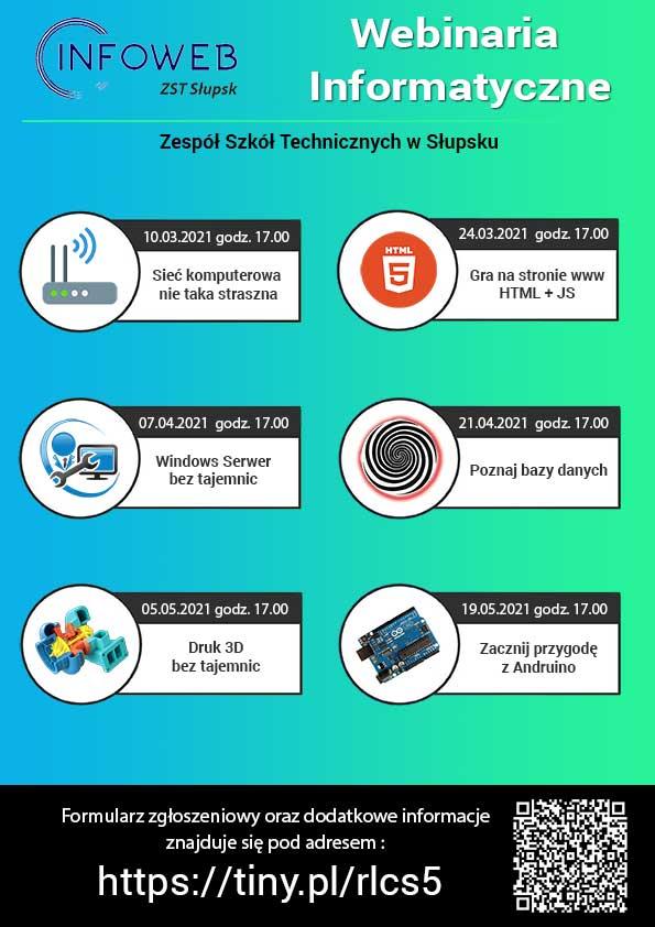 Plakat Webinaria Informatyczne